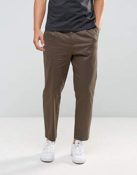 Kiomi Pleat Front Chinos In Khaki