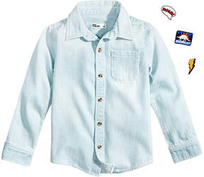 Epic Threads Diy Patch Cotton Chambray Shirt, Little Boys (4-7), Created for Macy's