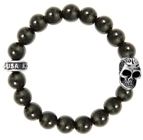 King Baby Studio Men's Tiger'S Eye Bead Bracelet