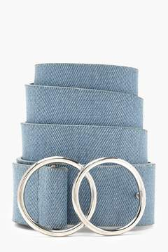 boohoo Double Ring Denim Boyfriend Belt