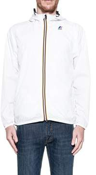K-Way Men's White Polyester Outerwear Jacket.