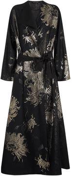Carine Gilson Floral Jacquard Long Kimono