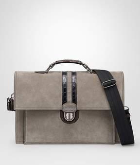 Bottega Veneta Steel Suede Briefcase