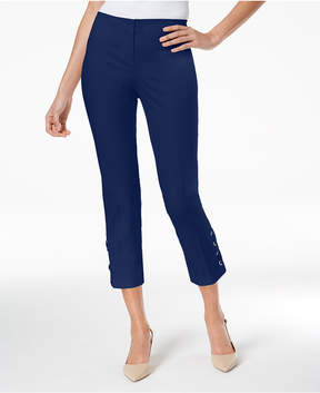 Alfani Cropped Lace-Up Pants, Created for Macy's