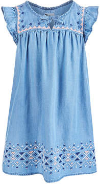 Epic Threads Toddler Girls Embroidered Denim Dress, Created for Macy's