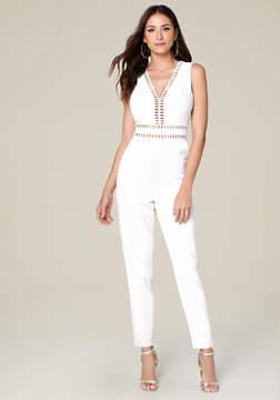 Bebe White Genevieve Jumpsuit