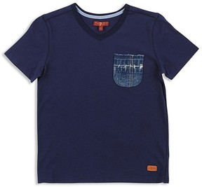 7 For All Mankind Boys' Denim-Pocket Tee - Little Kid