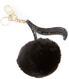 Kate Landry Music Note Faux-Fur Pom Key Charm