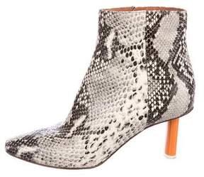 Vetements Lighter Snakeskin Ankle Boots