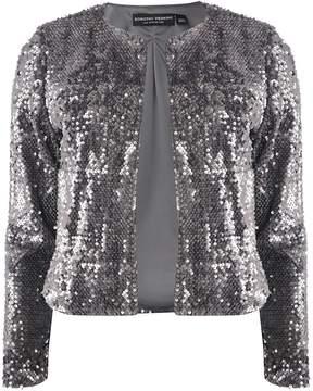 Dorothy Perkins Silver Sequin Boxy Jacket