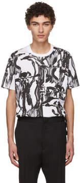 Givenchy White and Black Iris Pocket T-Shirt