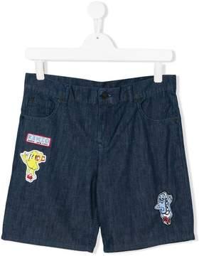 Kenzo patches denim shorts