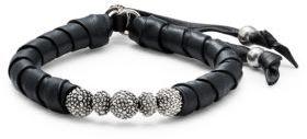King Baby Studio Sterling Silver Leather Bracelet