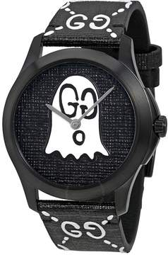 Gucci G-Timeless Black with Ghost Motif Dial Men's Watch
