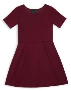 Un Deux Trois Girl's Textured Fit-&-Flare Dress