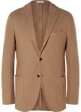 Boglioli Brown Slim-Fit Cotton-Canvas Blazer