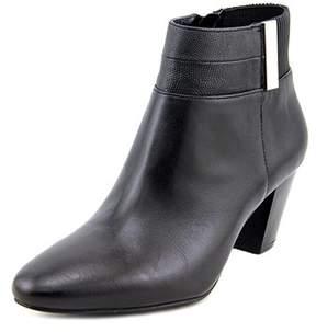Alfani Palessa Women Round Toe Leather Black Ankle Boot.