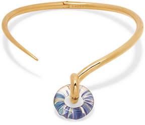 Charlotte Chesnais Swing Gold Vermeil And Glass Choker