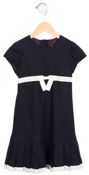 Helena Girls' Linen Bow-Accented Dress
