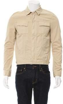 Balenciaga Woven Button-Up Trucker Jacket