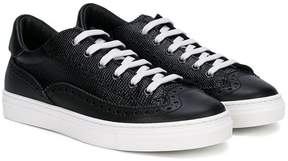 DSQUARED2 lizard embossed low top sneakers