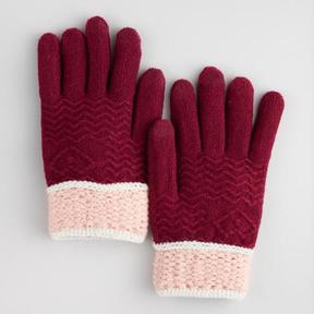 World Market Wine Red and Blush Touch Screen Gloves