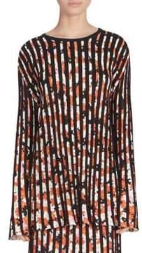 Kenzo Flare Sleeve Pleated Top
