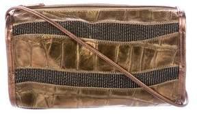 Carlos Falchi Metallic Striped Crossbody Bag
