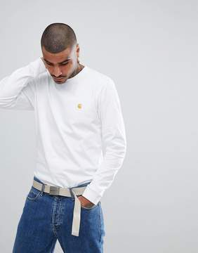 Carhartt WIP Long Sleeve Chase T-Shirt In White