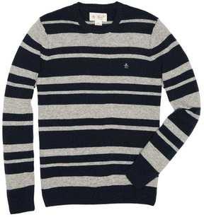 Original Penguin Striped Wool Crew Sweater