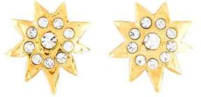 Christian Lacroix Crystal Star Clip-On Earrings