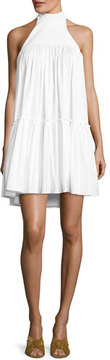 Caroline Constas Bo Halter Poplin Mini Dress