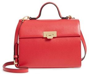 Lodis Stephanie Under Lock & Key - Medium Bree Leather Crossbody Bag - Red