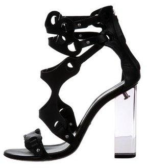 Emilio Pucci Cage Lucite Sandals