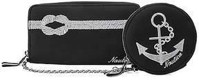 Nautica Rope & Anchor Continental Wallet with Coin Purse