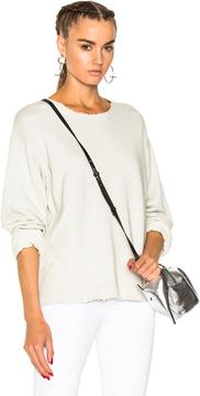RtA Beal Sweatshirt in White,Gray,Metallics.