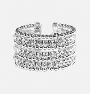 Avenue Stone Bead Row Cuff Bracelet