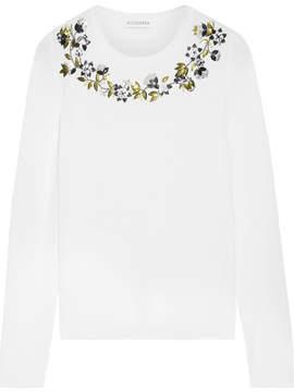 Altuzarra Hermoine Embellished Merino Wool Sweater - Cream