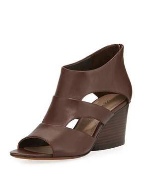 Donald J Pliner Jenkin Leather Demi-Wedge Sandal, Brown