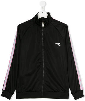 Diadora Junior TEEN logo print sports jacket