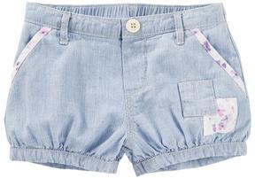 Osh Kosh Toddler Girl Hickory-Striped Patchwork Bubble Shorts