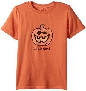 Life is Good Jack O'Lantern LIG Crusher Tee Boy's T Shirt