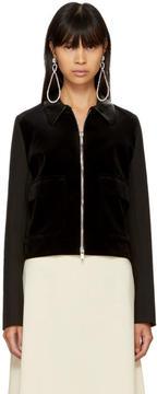 Wales Bonner SSENSE Exclusive Black Velvet Louis Jacket