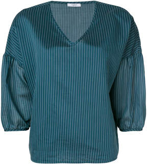 Peserico striped v-neck top