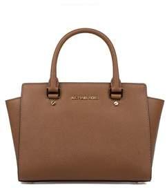 Michael Kors Women's Brown Leather Handbag. - BROWN - STYLE
