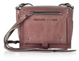 McQ Women's Pink Leather Shoulder Bag.