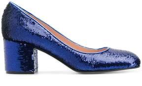 Pollini sequinned block heel pumps