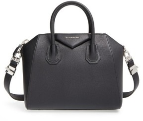 Givenchy 'Small Antigona' Sugar Leather Satchel - Black