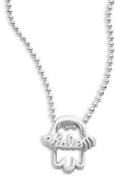 Alex Woo Faith and Symbols Sterling Silver Hamsa Necklace