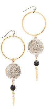 Ben-Amun Open Circle Drop Earrings